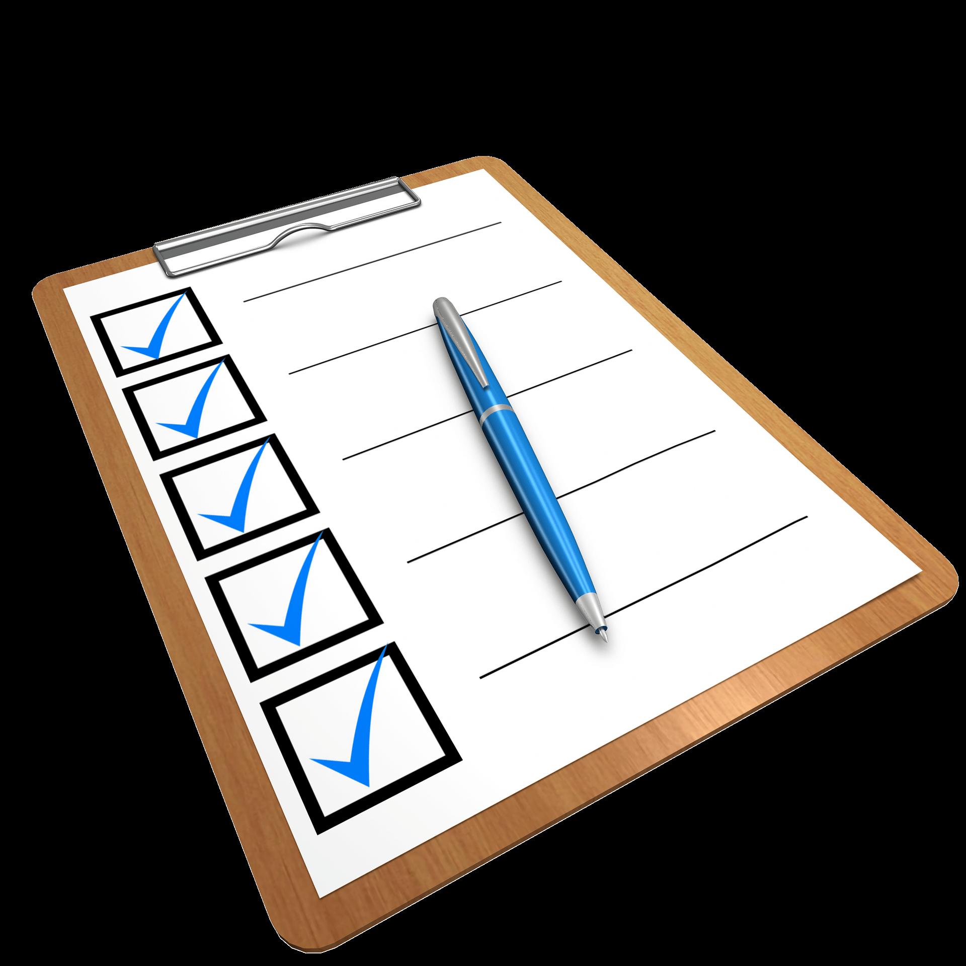checklist 1622517 1920 1